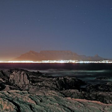 Table Mountain by Night by anthonybooysen