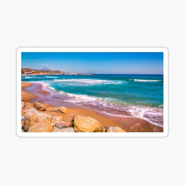 Sunshine and turquoise seas - El Campello Sticker