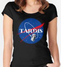 Nasa Tardis Women's Fitted Scoop T-Shirt