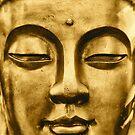 Golden Buddha Face by Madeleine Forsberg