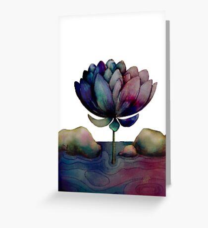 rainbow lotus flower Greeting Card
