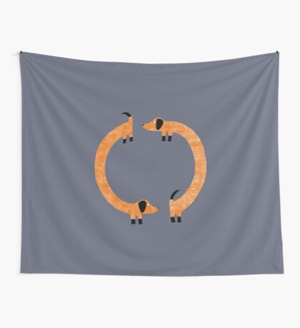 Sausage Dogs Wall Tapestry