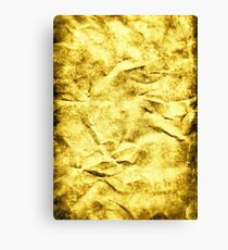Wrinkle Gold Canvas Print