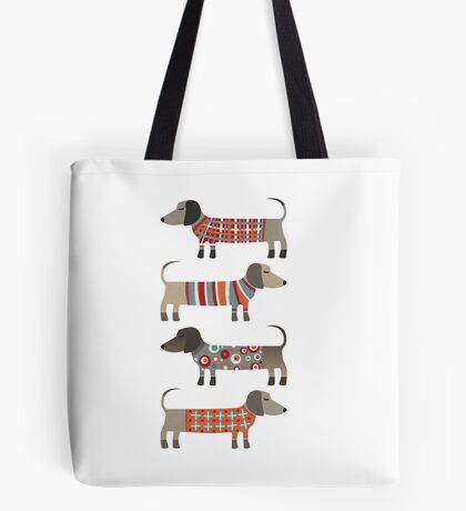 Sausage Dogs in Sweaters Tote Bag