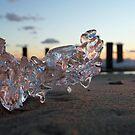 sunset reflections by photobear