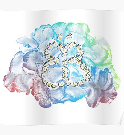 Rainbow Flower #RBSTAYCAY Poster