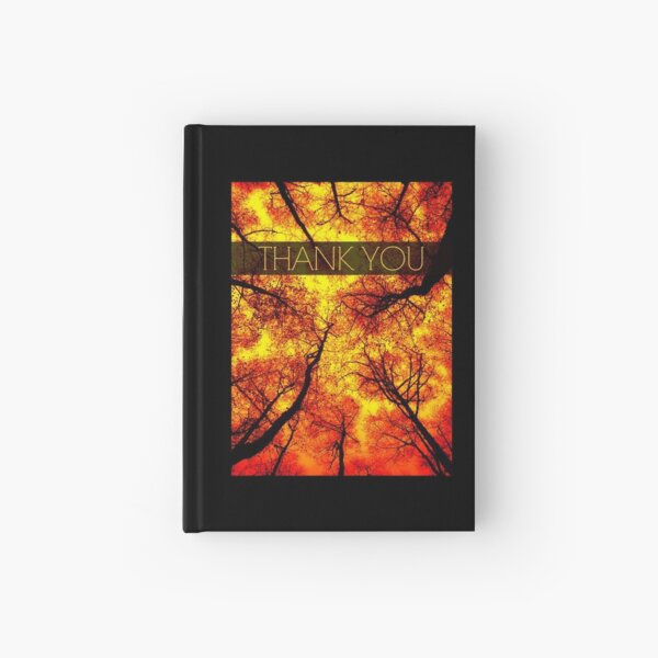 Thank You Golden Autumn Trees Hardcover Journal