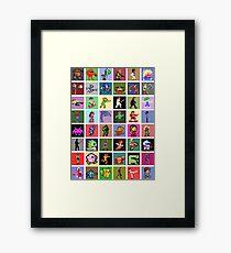 Pixel Heroes Framed Print