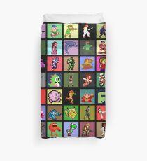 Pixel Heroes Duvet Cover