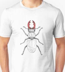 Hirschkäfer mit rotem Geweih Unisex T-Shirt
