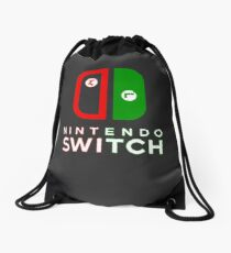 Mario & Luigi Switch Logo Drawstring Bag