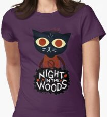 night in the woods Womens Fitted T-Shirt