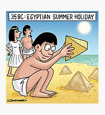 Pyramid Sandcastle Photographic Print