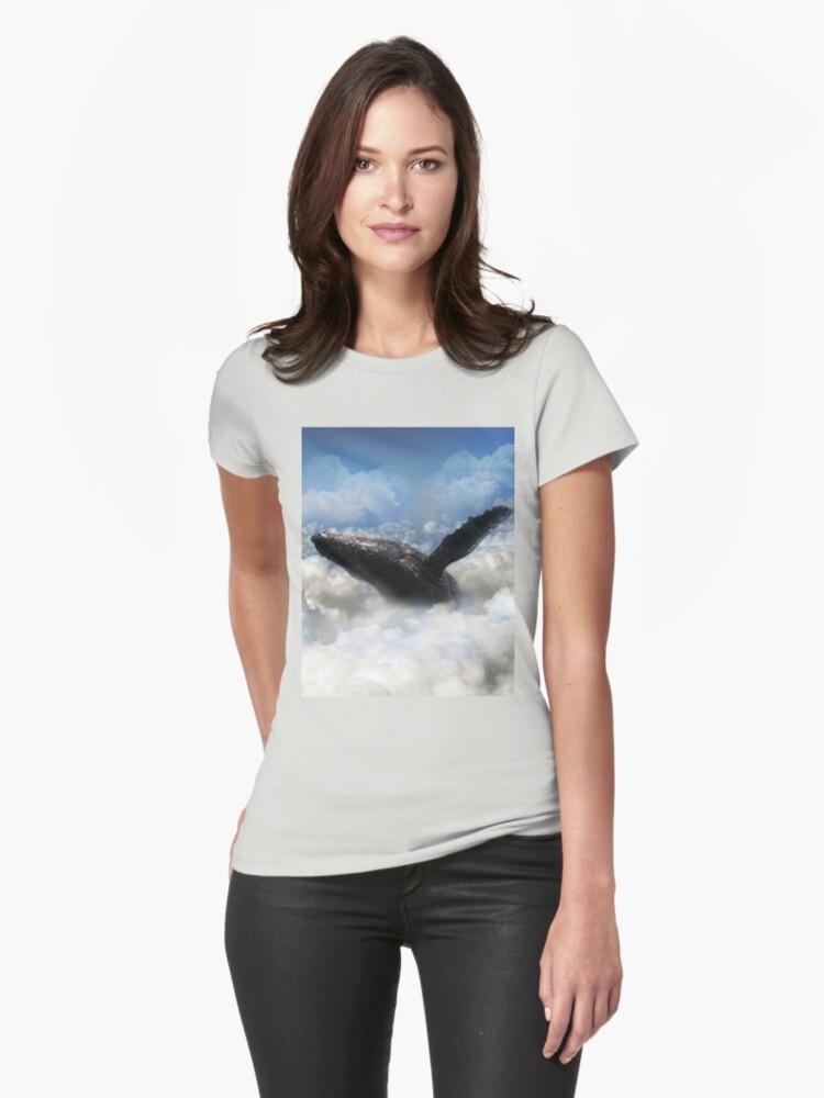 Cloud Whale Womens T-Shirt Front