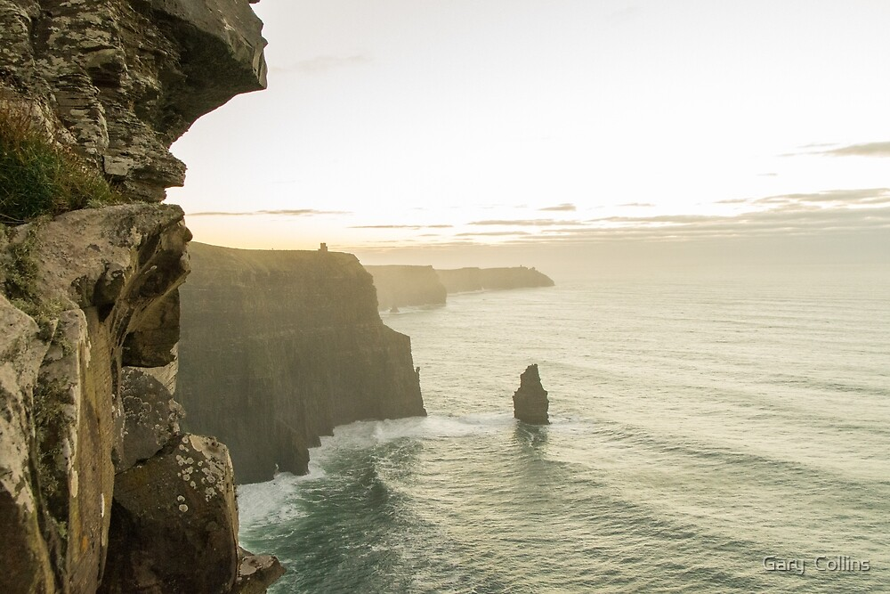 Cliffs of Moher - Goats Trail View by Gary  Collins