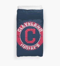 Cleveland Indians Baseball Club Distressed Duvet Cover