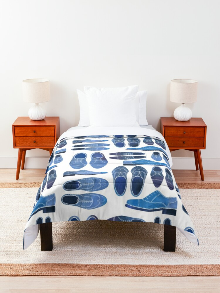 Alternate view of Blue Brogue Shoes Comforter
