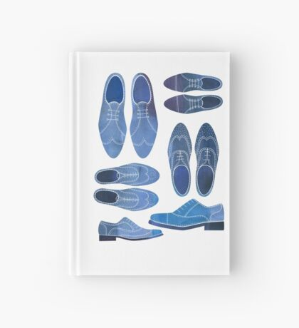 Blue Brogue Shoes Hardcover Journal