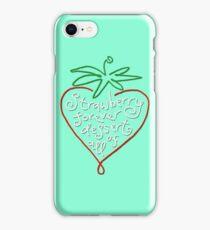 Strawberry forever dessert of all! iPhone Case/Skin