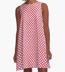 Teaberry Polka Dots A-Line Dress