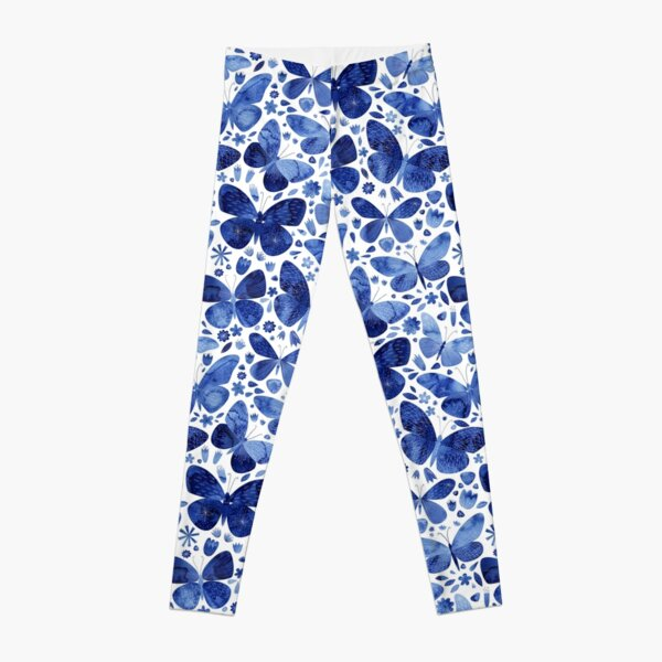 Blaue Schmetterlinge Leggings