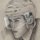 Daniel Paille - Boston Bruins Hockey Portrait by HeatherRose