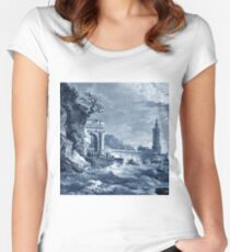 Sea storm Women's Fitted Scoop T-Shirt