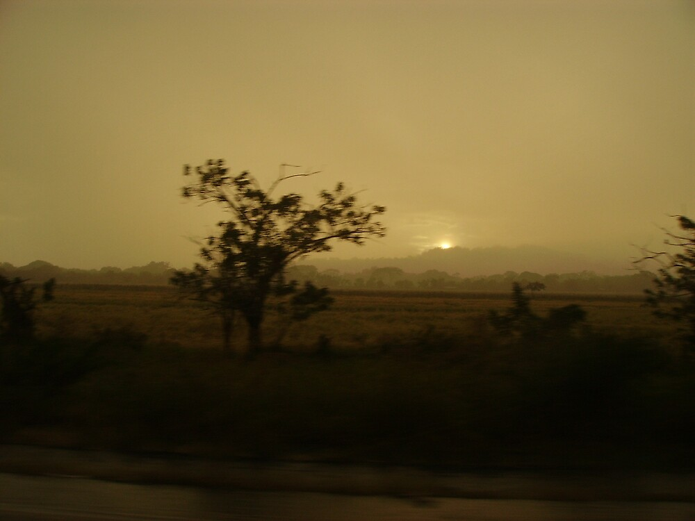Nicaraguan sunset by Caroline Cage