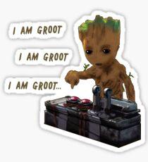 Baby Groot Death Button Sticker