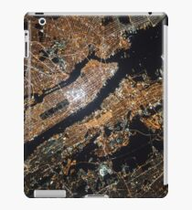 NYC From Space at Night iPad Case/Skin