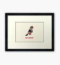 Justin Beaver Framed Print