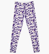 Purple Penguin Party Leggings
