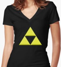 Triforce Women's Fitted V-Neck T-Shirt