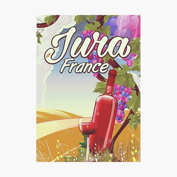 Jura France vineyard travel poster Photographic Print