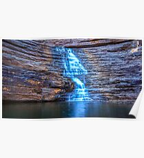 Joffre Gorge waterfall Poster