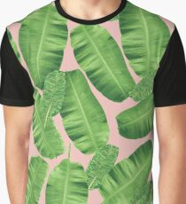 Peach and green Banana Leaf | Pattern #redbubble #lifestyle #home Graphic T-Shirt
