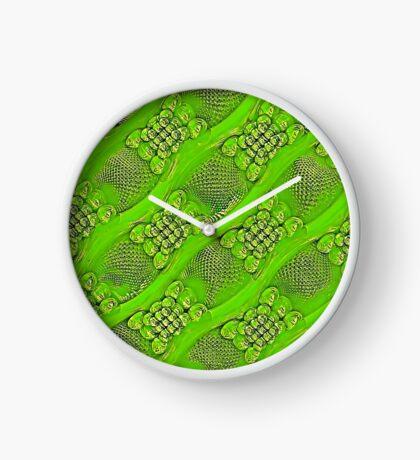 Golden green Clock