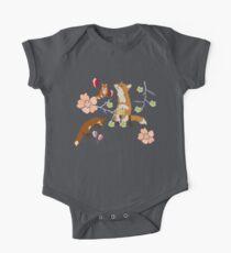 Fox in flowers One Piece - Short Sleeve