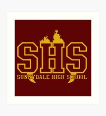 Sunnydale High School Art Print