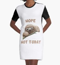 Sloth Design Graphic T-Shirt Dress