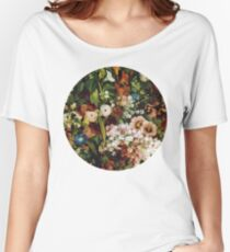 Vintage Flower Circle Women's Relaxed Fit T-Shirt