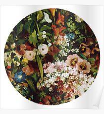 Vintage Flower Circle Poster