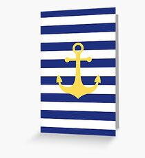 Yellow Anchor Greeting Card