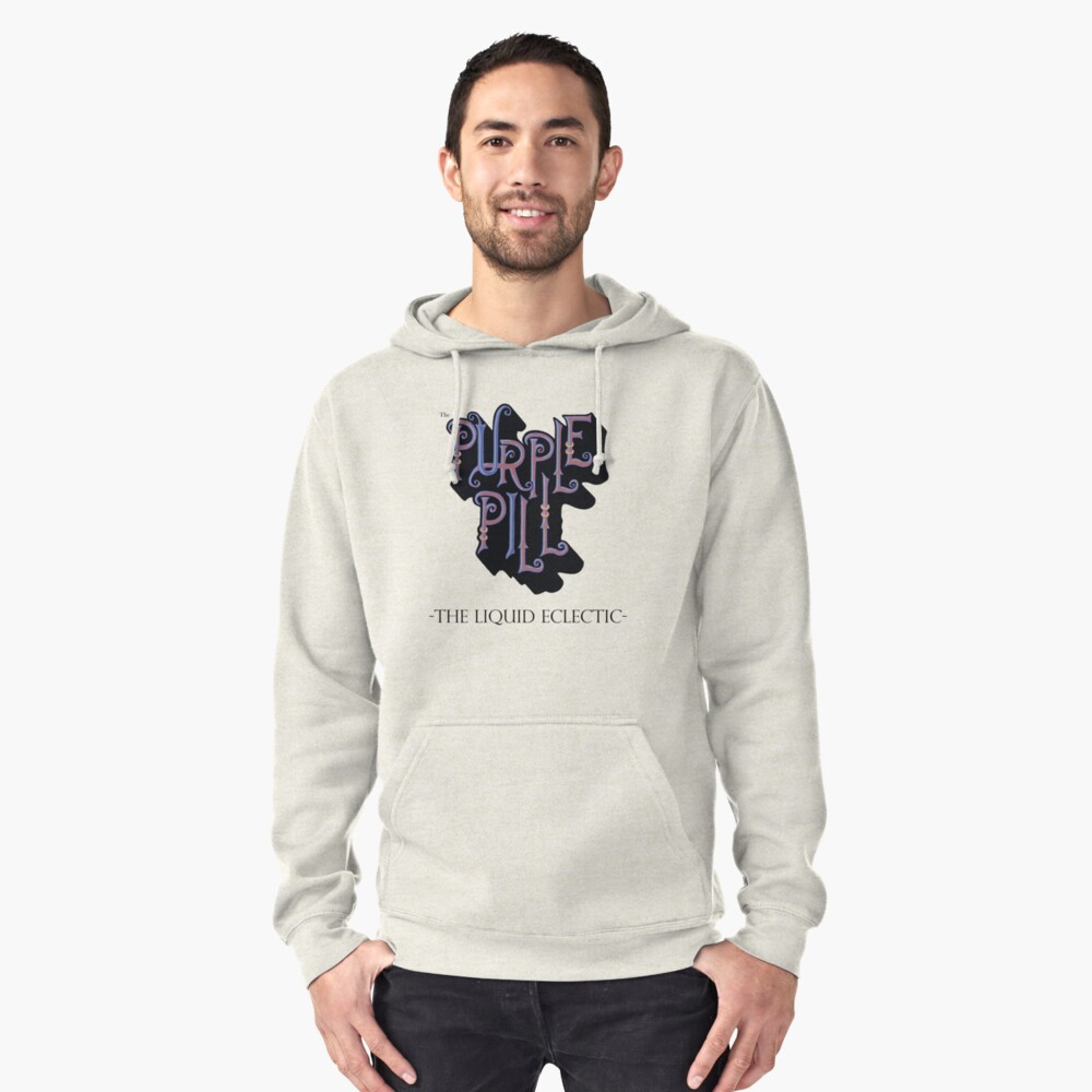 The Purple Pill Pullover Hoodie Front