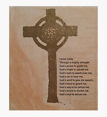 St Patrick's prayer Photographic Print