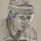 Reilly Smith - Boston Bruins Hockey Portrait by HeatherRose