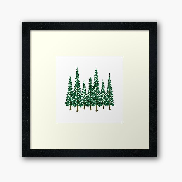 Into the Pines Framed Art Print