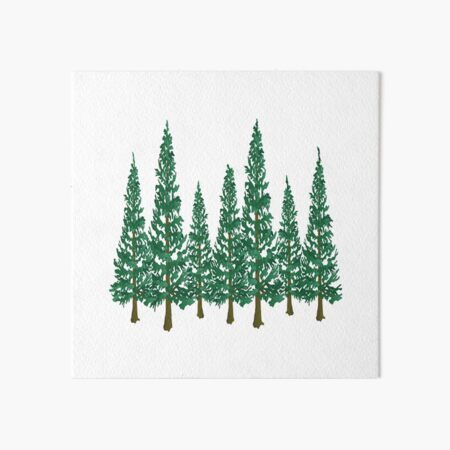 Into the Pines Art Board Print