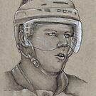 Carl Soderberg - Boston Bruins Hockey Portrait by HeatherRose
