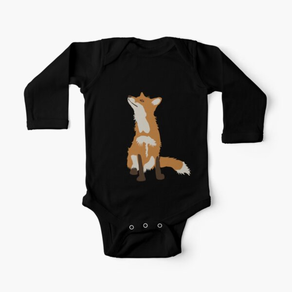 Foxes Long Sleeve Baby One-Piece